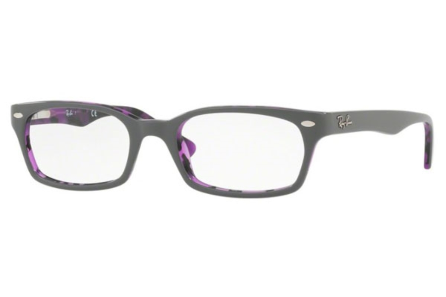 Ray-Ban RX 5150 Eyeglasses in 5718 Top Grey On Havana Violet