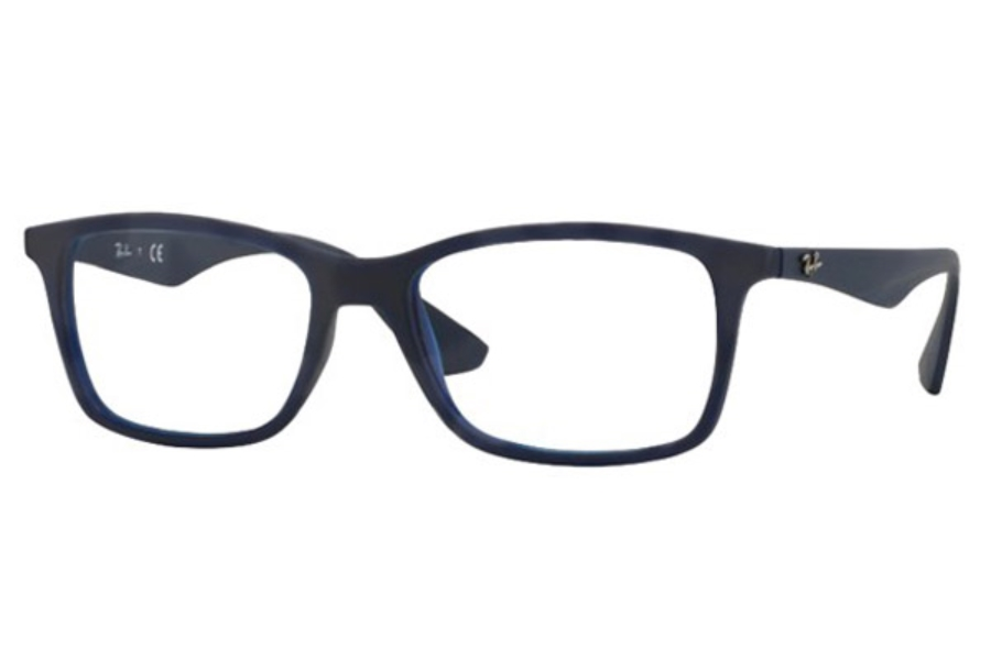 Ray-Ban RX 7047 Eyeglasses in 5450 Matte Trasp Blue