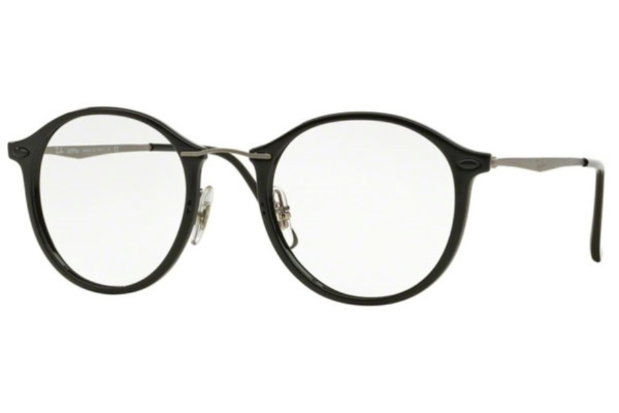 d0075c7ba7974 Ray-Ban RX 7073 Eyeglasses in 2000 Shiny Black ...