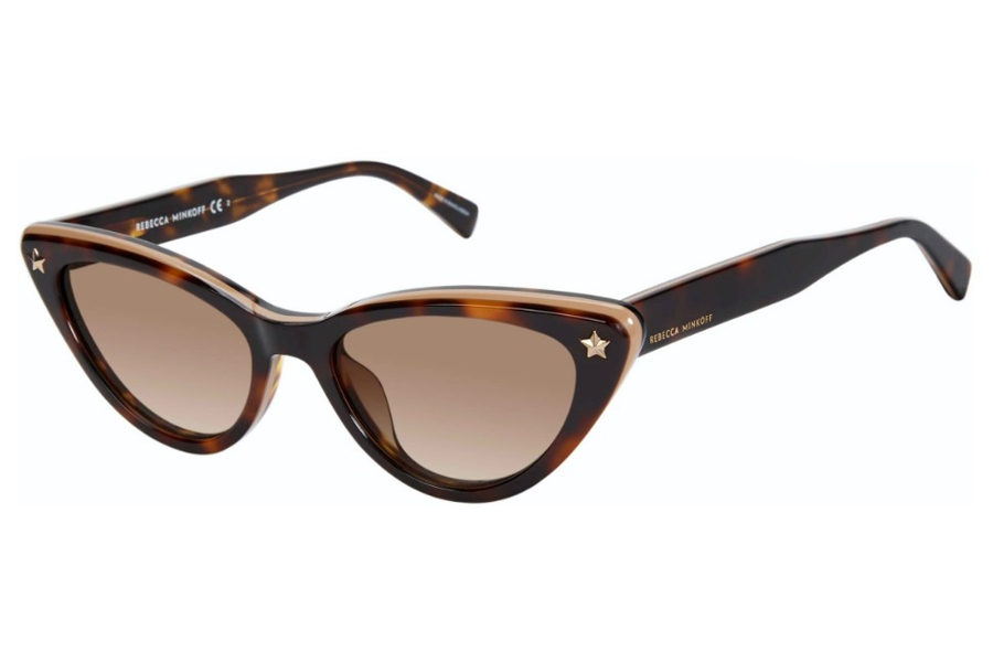 Rebecca Minkoff Brooke 1/S Sunglasses in 0086 Dark Havana (HA Brown Gradient)