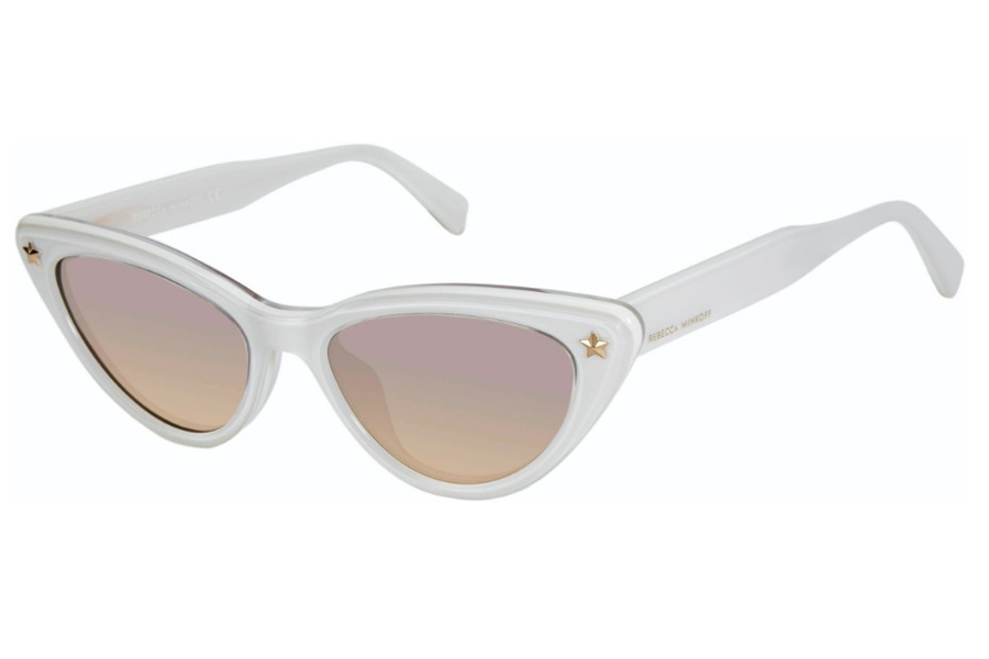 Rebecca Minkoff Brooke 1/S Sunglasses in 0SZJ Ivory (GA Brown Ochre)