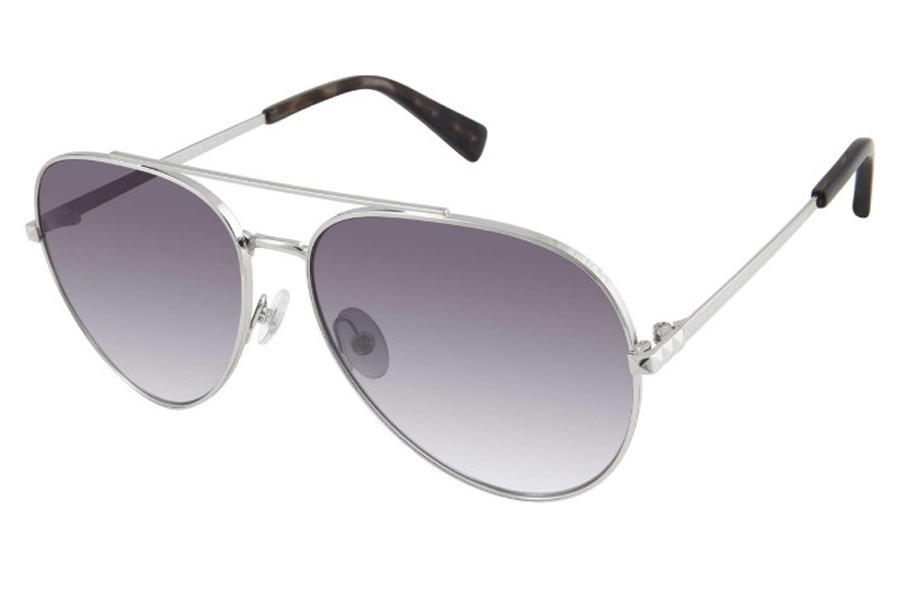 Rebecca Minkoff Stevie 4/S Sunglasses in 0010 Palladium (9O Dark Gray Gradient) (Only 59 Eye Size Available)