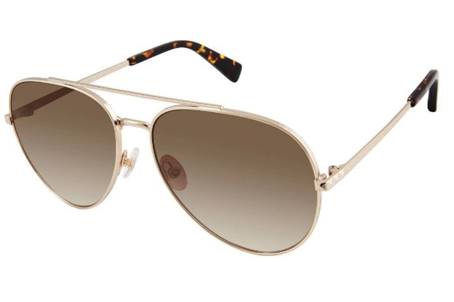 Rebecca Minkoff Stevie 4/S Sunglasses in 0013 Gold (HA Brown Gradient) (Only 59 Eye Size Available)