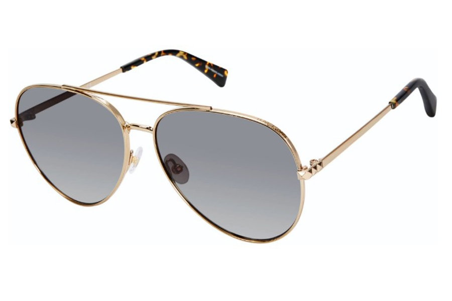 Rebecca Minkoff Stevie 4/S Sunglasses in 03YG Lgh Gold (HA Brown Gradient) (Only 63 Eye Size Available)
