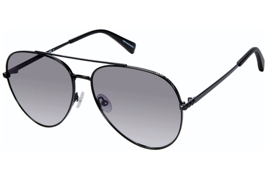 Rebecca Minkoff Stevie 4/S Sunglasses in 0807 Black (9O Dark Gray Gradient) (Only 63 Eye Size Available)