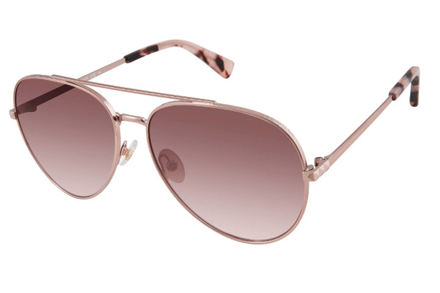Rebecca Minkoff Stevie 4/S Sunglasses in 0AU2 Red Gold (HA Brown Gradient) (Only 59 Eye Size Available)