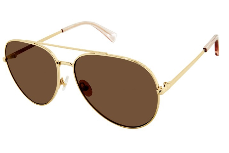 Rebecca Minkoff Stevie 4/S Sunglasses in 0J5G Gold (SP Bronze Pz) (Only 63 Eye Size Available)