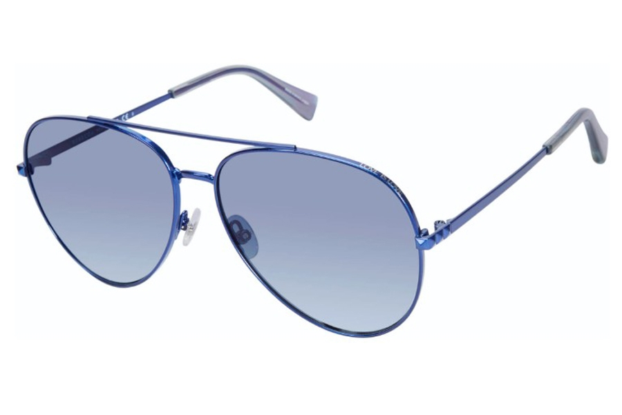 Rebecca Minkoff Stevie 4/S Sunglasses in 0PJP Blue (08 Dark Blue Gradient) (Only 63 Eye Size Available)