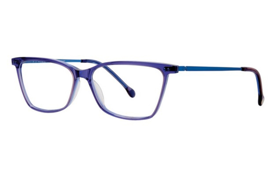 Red Rose Naples Eyeglasses in 6545 Imperial Purple/Blue