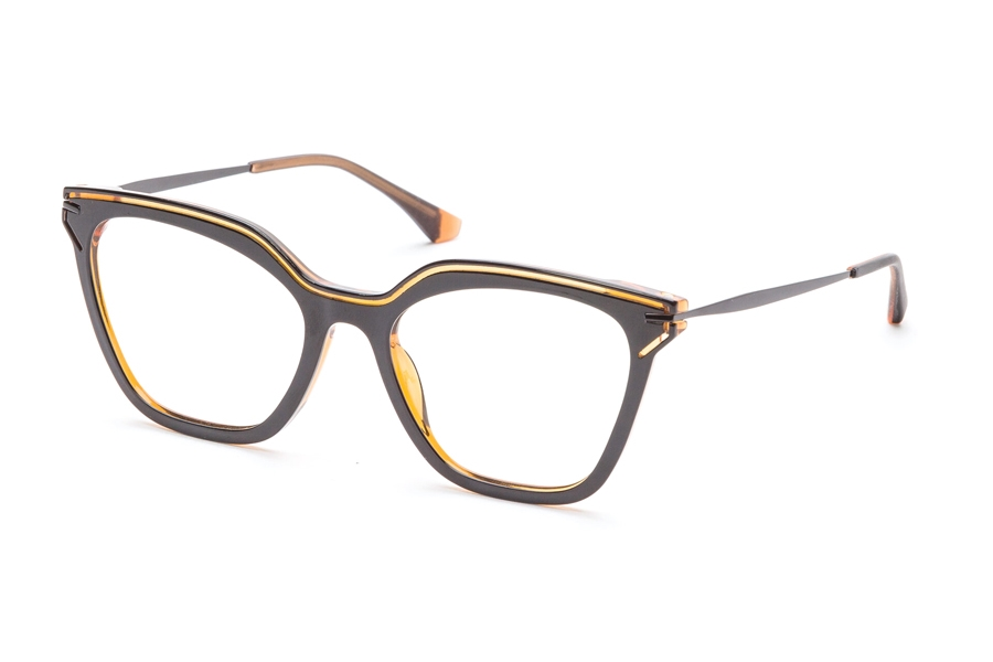 Redele Araihc Eyeglasses in 1 Black/Pumpkin