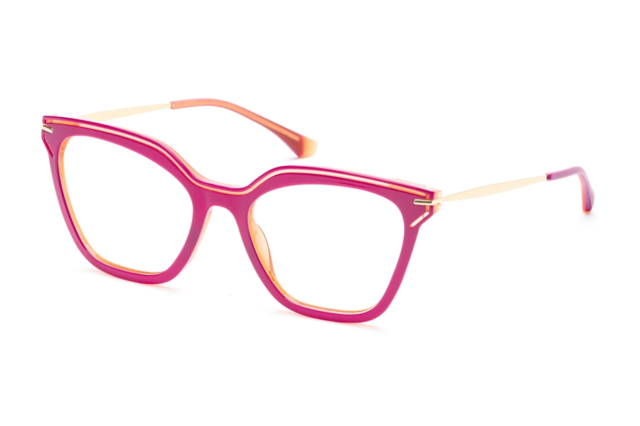 Redele Araihc Eyeglasses in 3 Plum And Orange Fluo
