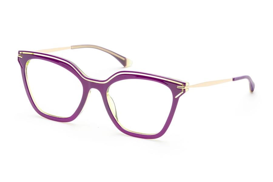 Redele Araihc Eyeglasses in 4 Blue Raspberry/Grn Fluo