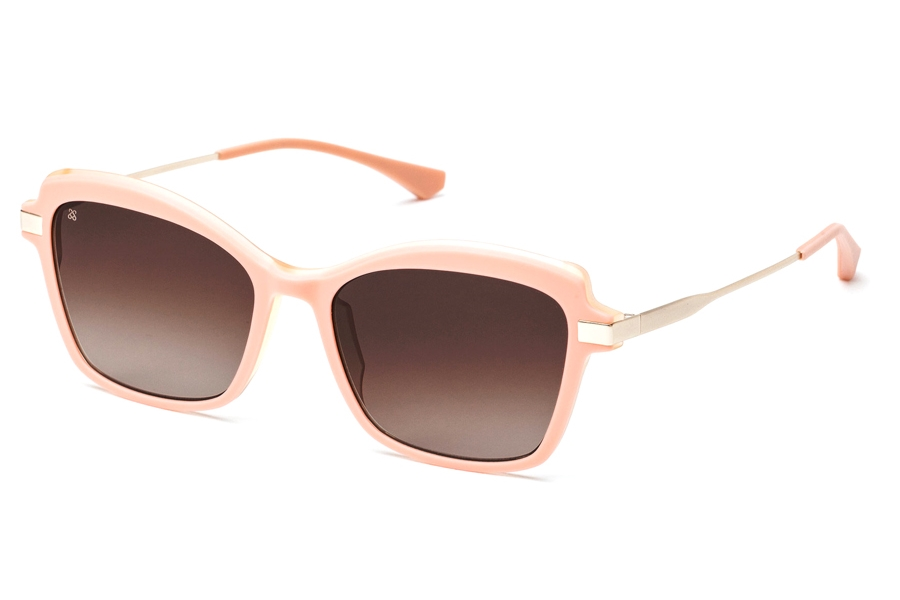 Redele Chiara Sunglasses in 3 Coral Red/Gold
