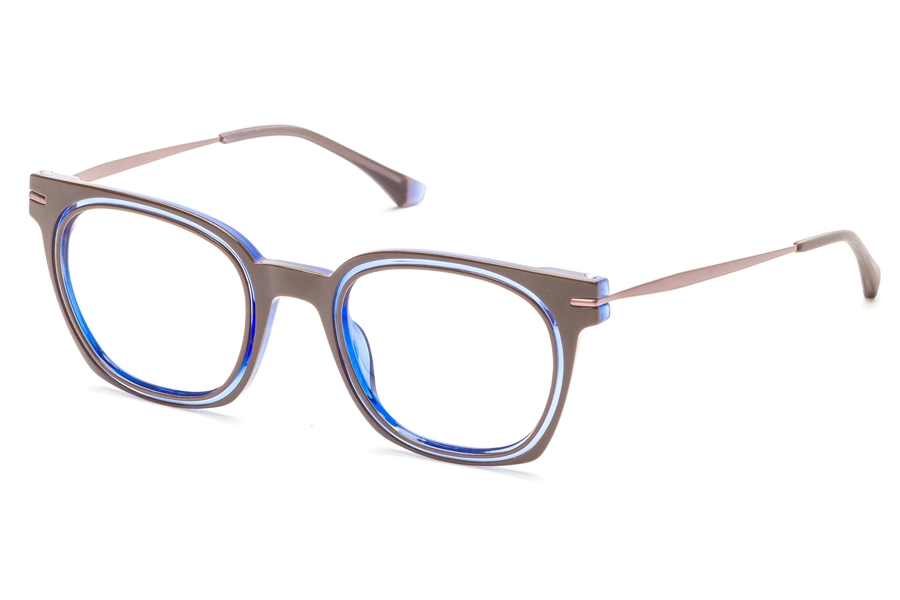 Redele Theolds Eyeglasses in 2 Brown/Blue