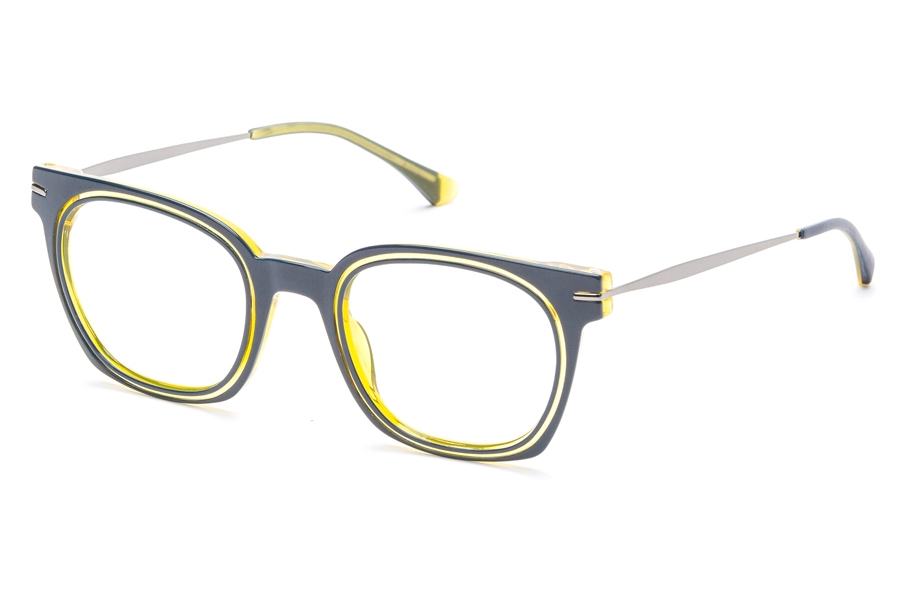 Redele Theolds Eyeglasses in 3 Blue/Navy/Amber