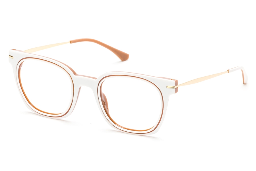 Redele Theolds Eyeglasses in 4 White And Hazelnut
