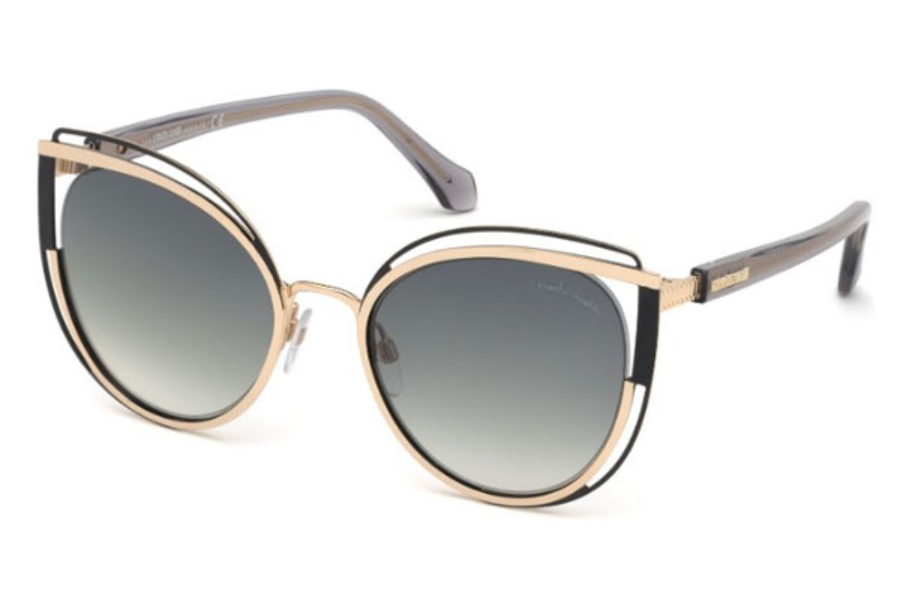 Roberto Cavalli RC1095 Montieri Sunglasses in 32B - Gold / Gradient Smoke