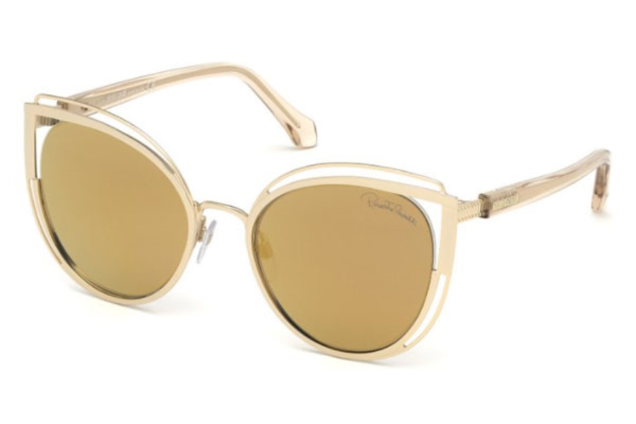 Roberto Cavalli RC1095 Montieri Sunglasses in 32G - Gold / Brown Mirror