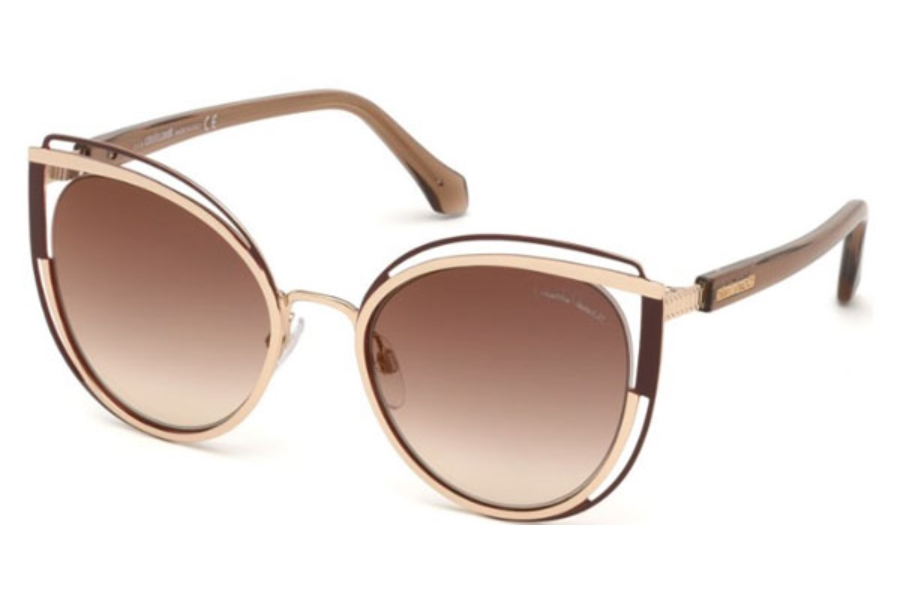 Roberto Cavalli RC1095 Montieri Sunglasses in 32T - Gold / Gradient Bordeaux