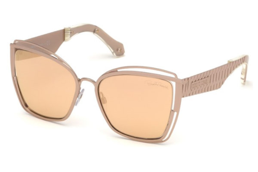 Roberto Cavalli RC1096 Montopoli Sunglasses in 33G - Gold/other / Brown Mirror