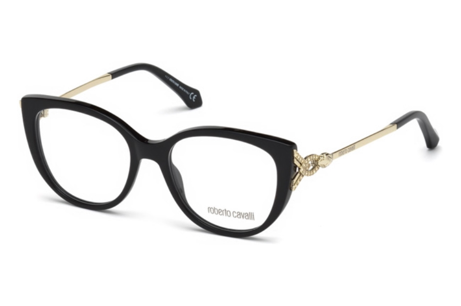 Roberto Cavalli RC5053 Follonica Eyeglasses in 001 - Shiny Black