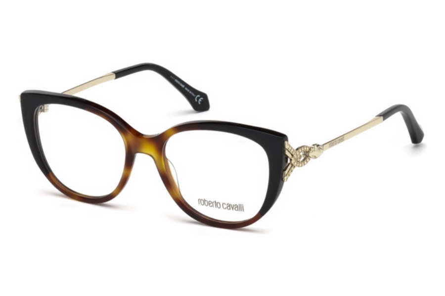 Roberto Cavalli RC5053 Follonica Eyeglasses in 056 - Havana/Other