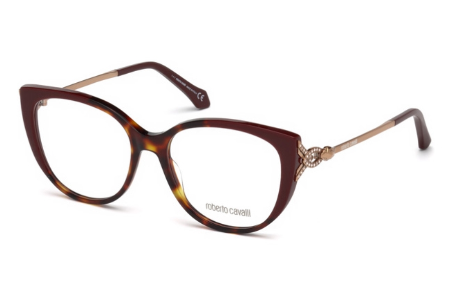 Roberto Cavalli RC5053 Follonica Eyeglasses in A56 - Havana/Other