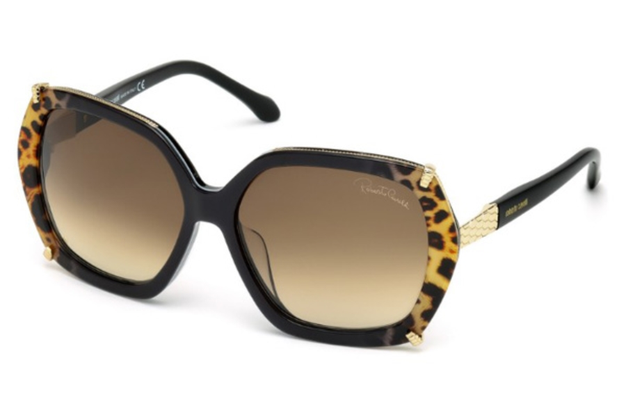 Roberto Cavalli RC993S-D Sunglasses in 05F - Black/Other / Gradient Brown