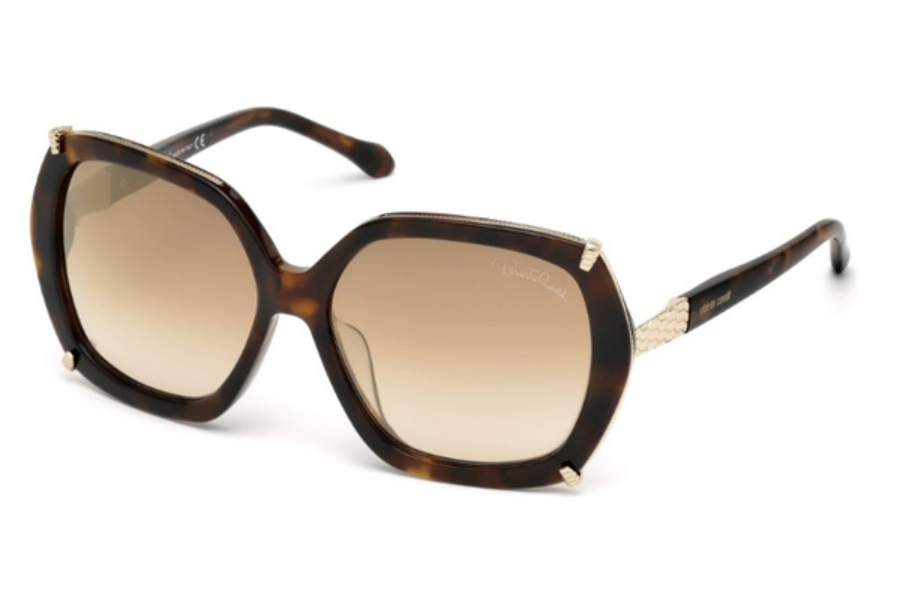 Roberto Cavalli RC993S-D Sunglasses in 52G - Dark Havana / Brown Mirror