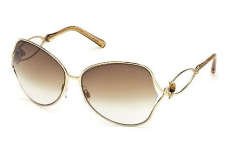 Roberto Cavalli RC673S Sunglasses in 28F Shiny Rose Gold / Gradient Brown Lens