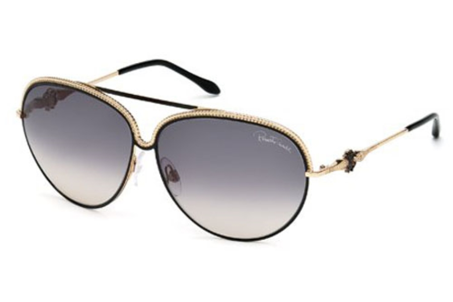 Roberto Cavalli RC721S TUREIA Sunglasses in 33B Gold/Other / Gradient Smoke