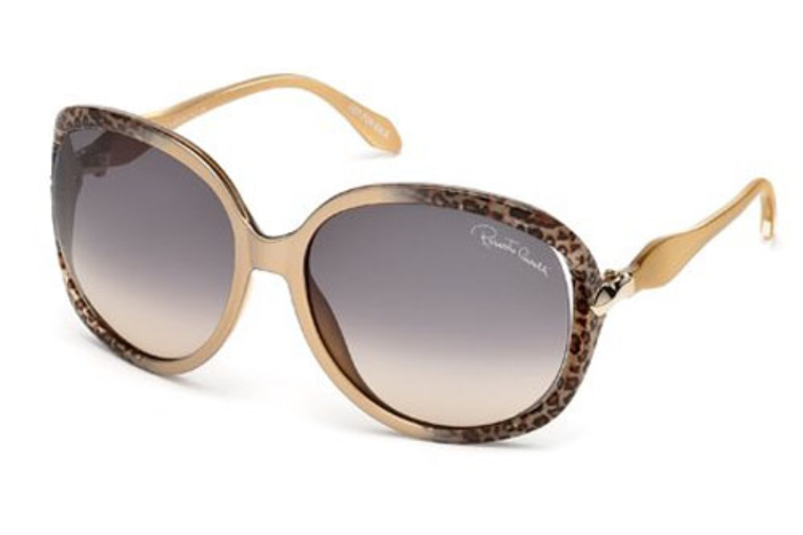 Roberto Cavalli RC732S BANYAN Sunglasses in 33B Gold/Other / Gradient Smoke