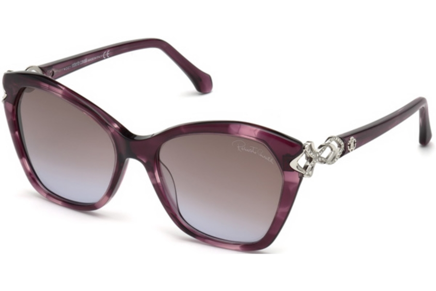 Roberto Cavalli RC1077 Miniato Sunglasses in 83Z - Violet/other / Gradient Or Mirror Violet