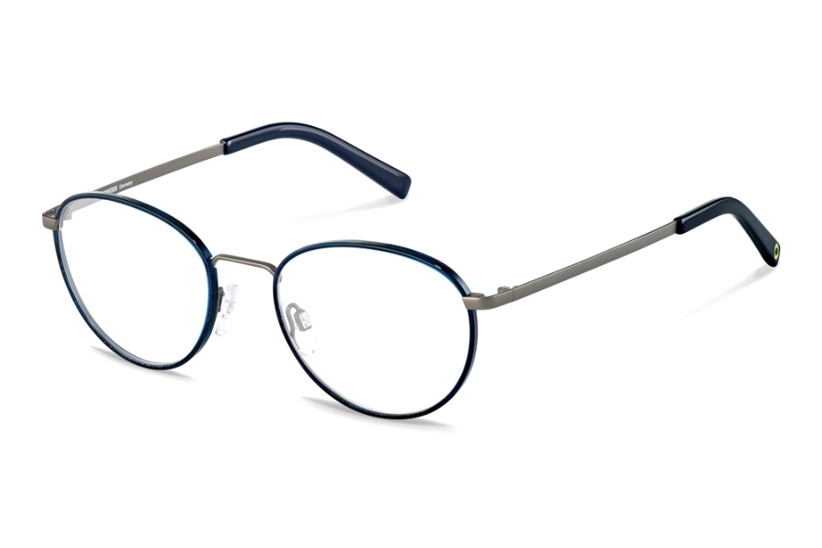 Rocco by Rodenstock RR217 Eyeglasses in B Dark Blue Gunmetal