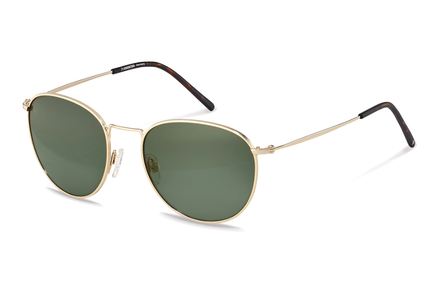 Rodenstock R1426 Sunglasses in C Gold Havana w/Green Polarized