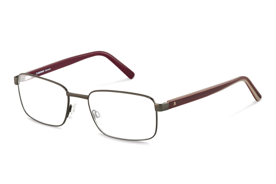 Rodenstock R2620 Eyeglasses in C Dark Gunmetal Red Layered