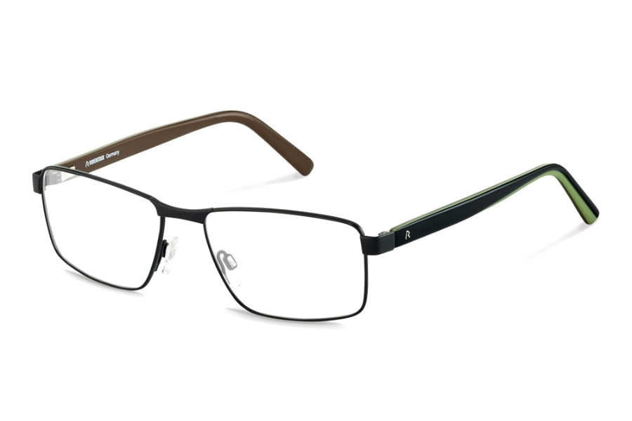 Rodenstock R2621 Eyeglasses in A Black Black Green