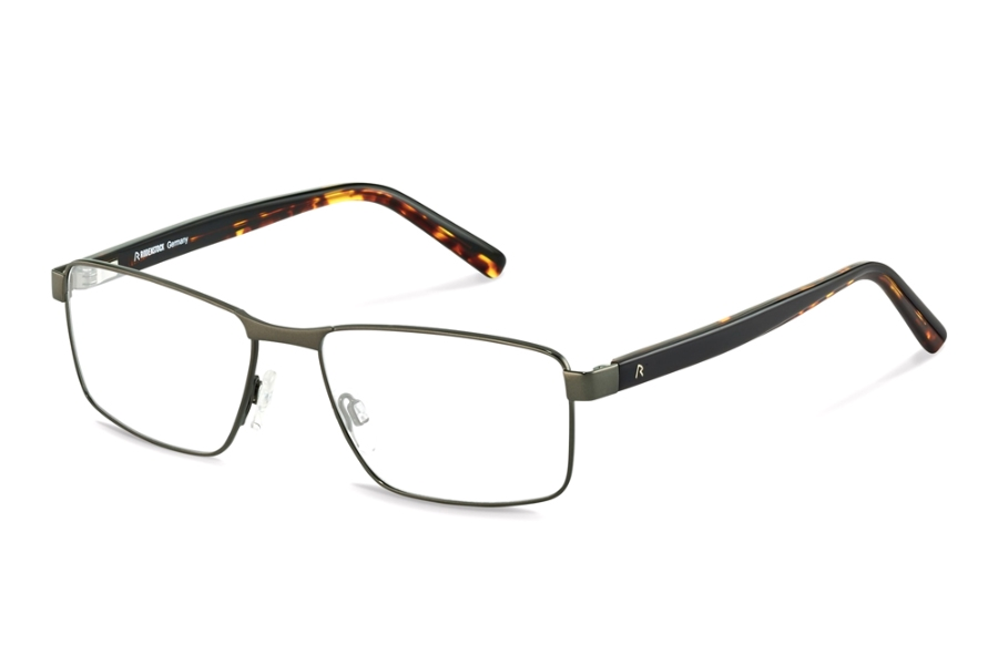 Rodenstock R2621 Eyeglasses in B Dark Gunmetal Black Havana