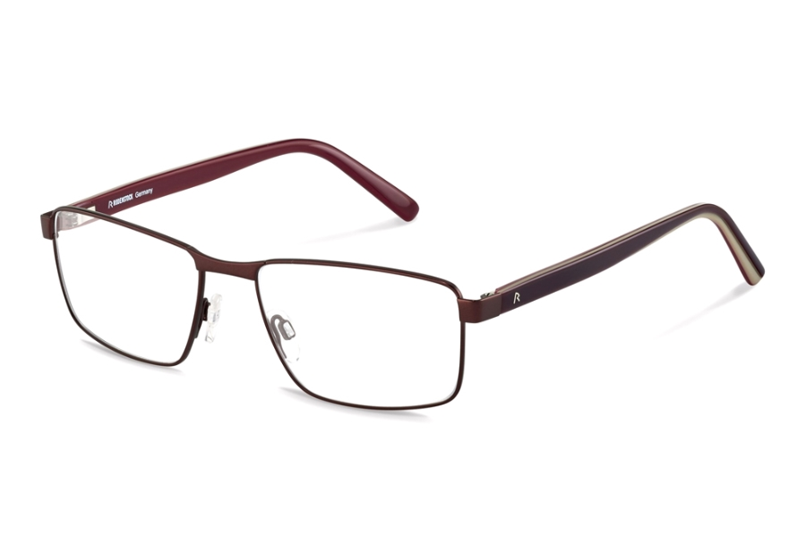 Rodenstock R2621 Eyeglasses in C Dark Red Dark Red Layered