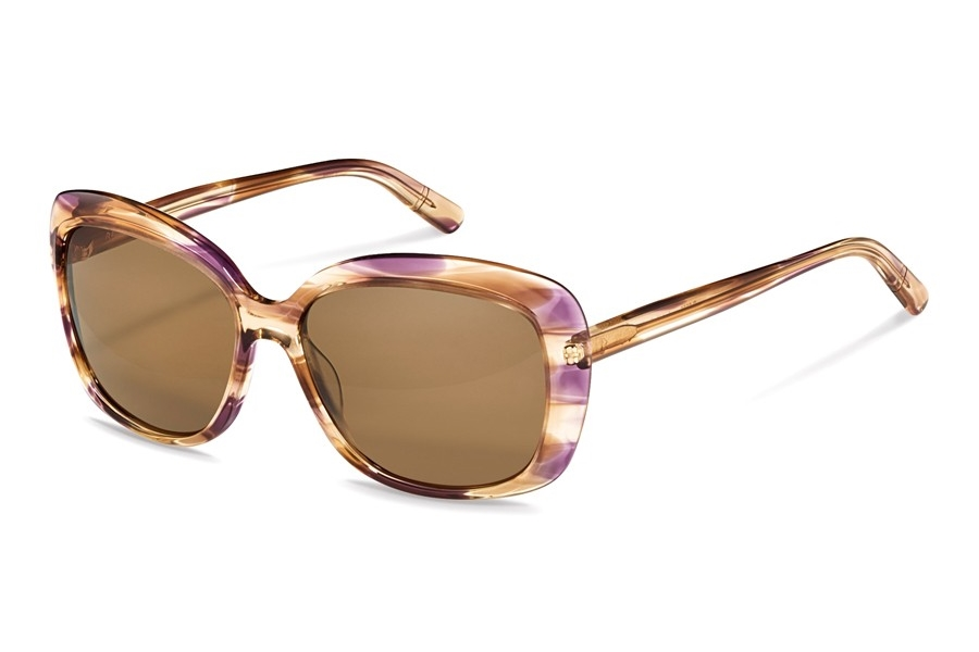 Rodenstock R3308 Sunglasses in A Brown Violet Structured w/Brown