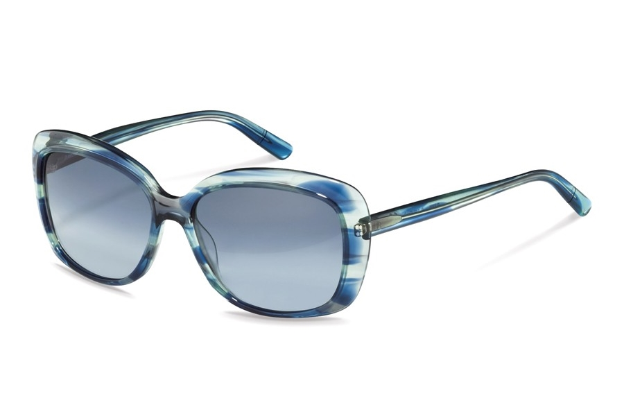 Rodenstock R3308 Sunglasses in B Blue Structured w/Steel Blue Gradient