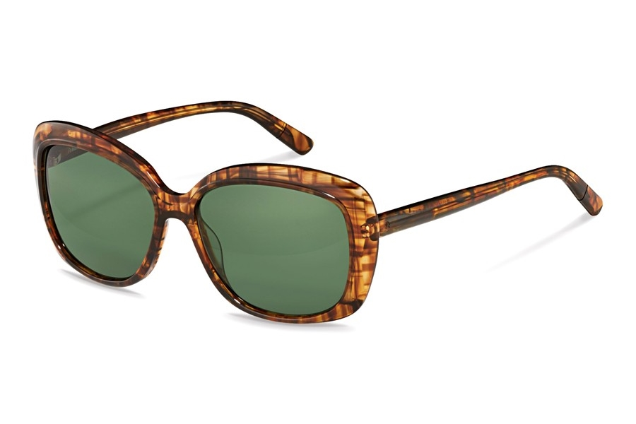 Rodenstock R3308 Sunglasses in D Brown Structured w/Green