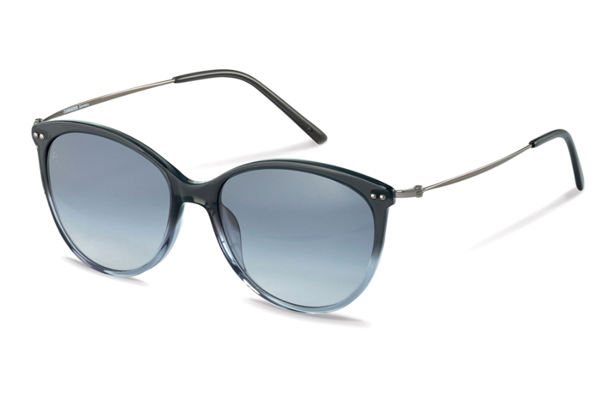 Rodenstock R3311 Sunglasses in C Grey Blue Gradient Gunmetal w/Gradient Steel Blue
