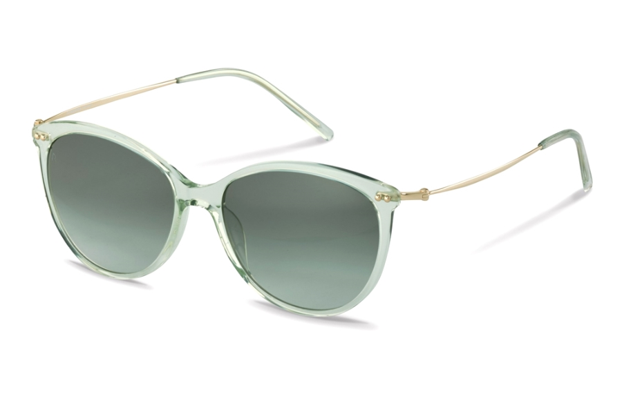 Rodenstock R3311 Sunglasses in D Havana Gold w/Sunprotect Pilot Green Grey