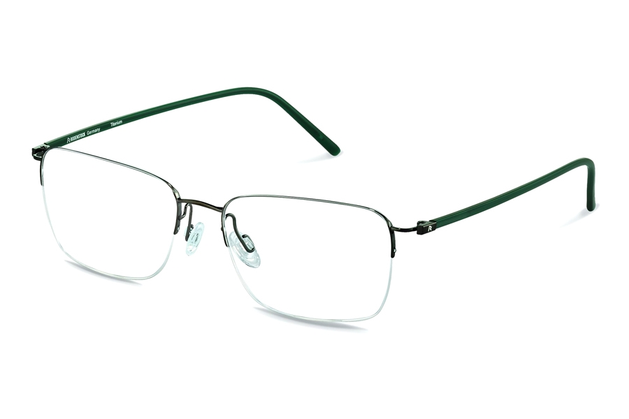 Rodenstock R7051 Eyeglasses in E Dark Gunmetal/ Green