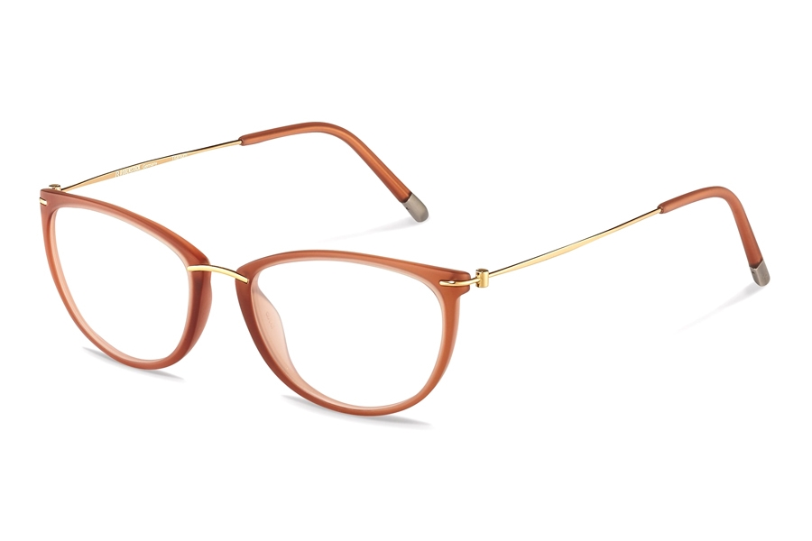 Rodenstock R7070 Eyeglasses in A Apricot/ Rose Gold