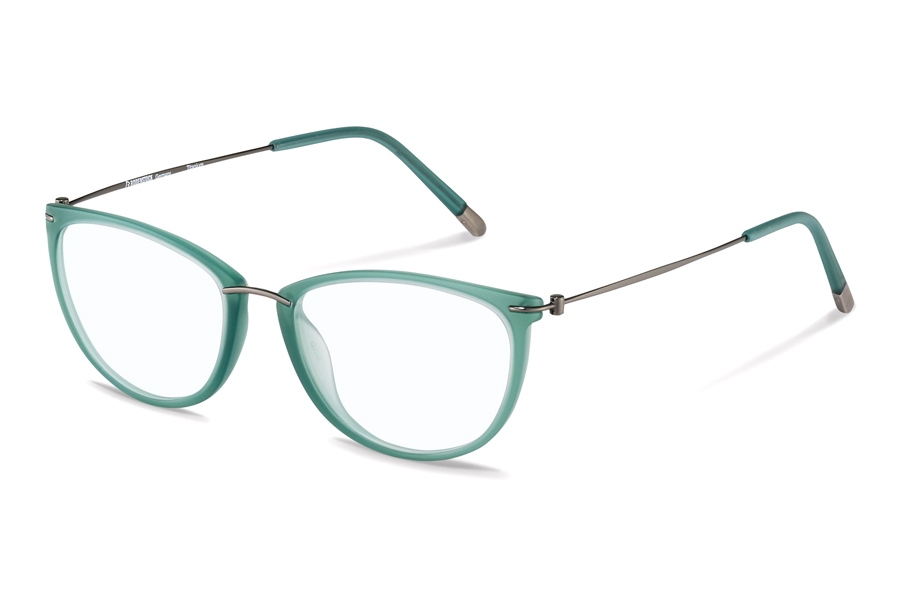 Rodenstock R7070 Eyeglasses in B Green/ Gunmetal
