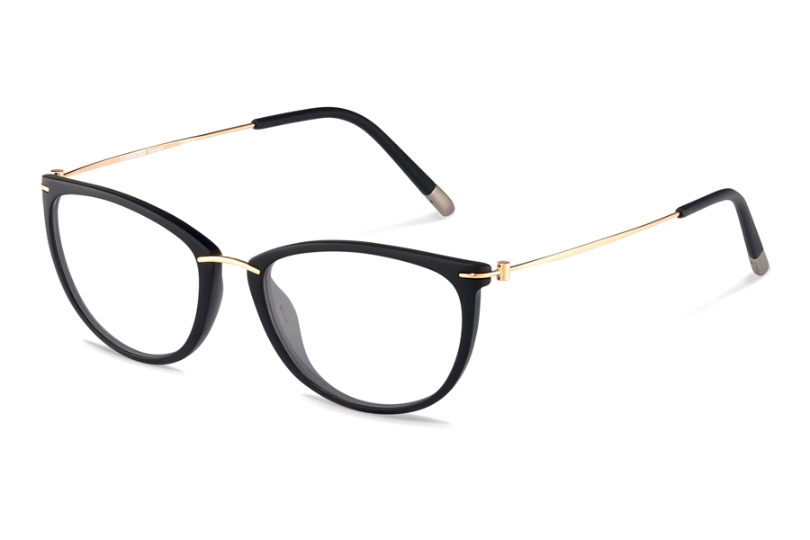 Rodenstock R7070 Eyeglasses in D Black/ Rose Gold