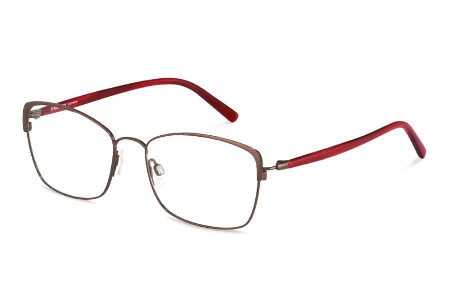 Rodenstock R7087 Eyeglasses in B Bordeaux Red Structured