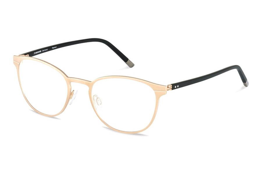 Rodenstock R8023 Eyeglasses in A Rose Gold/ Black